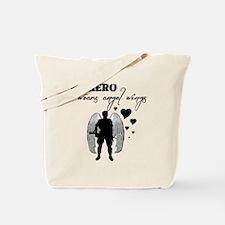 hero wears angel wings Tote Bag