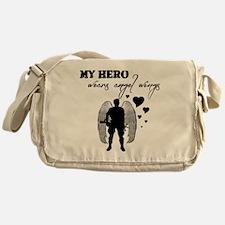 hero wears angel wings Messenger Bag