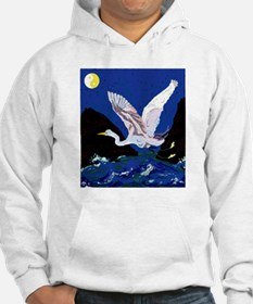 White Crane Spreads Its Wings Hoodie