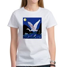 White Crane Spreads Its Wings Tee