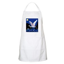 White Crane Spreads Its Wings Apron