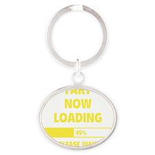 LoadingFart2E Oval Keychain