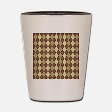 Brown Argyle Shot Glass