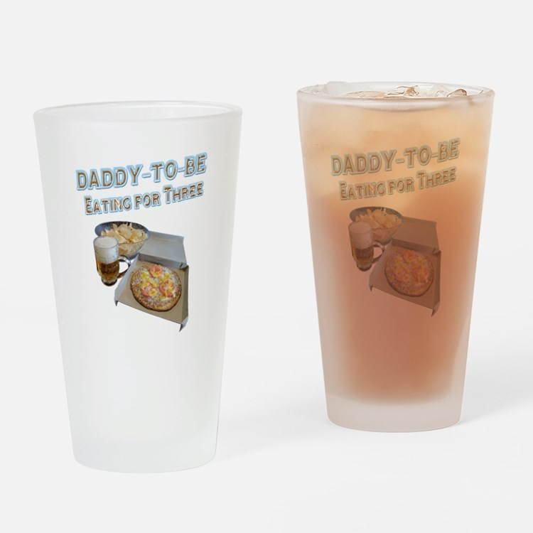 DADDY-TO-BE Eating for Three Drinking Glass