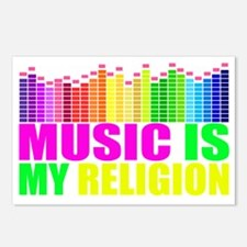 Music is My Religion Shir Postcards (Package of 8)