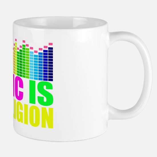 Music is My Religion Shirt Mug