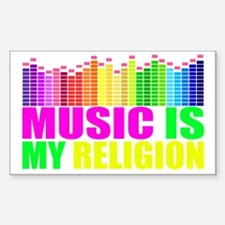 Music is My Religion Shirt Sticker (Rectangle)
