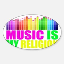 Music is My Religion Shirt Decal