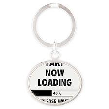 LoadingFart2A Oval Keychain
