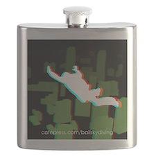 3D FF Skyline Sticker Flask