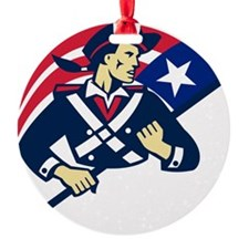 american patriot minuteman flag ret Ornament