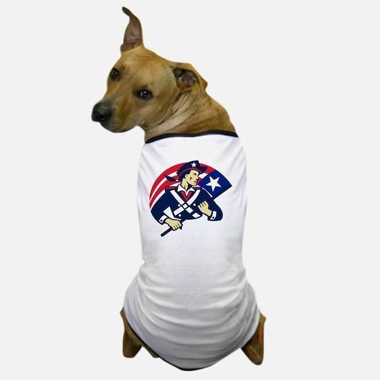 american patriot minuteman flag retro Dog T-Shirt