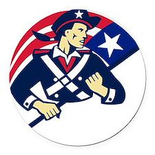 american patriot minuteman flag r Round Car Magnet