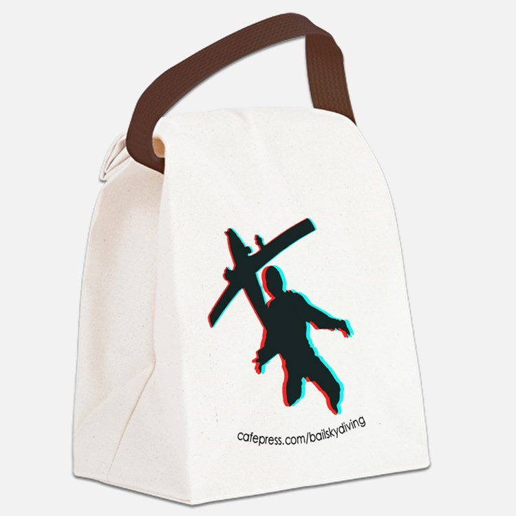 3D Freefall 1 Oval Sticker Canvas Lunch Bag