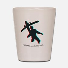 3D Freefall 1 Oval Sticker Shot Glass