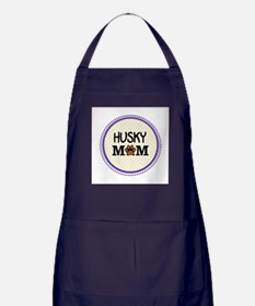 Husky Dog Mom Apron (dark)
