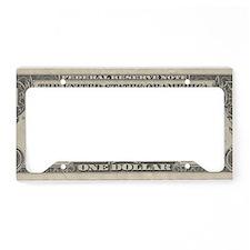 1 dollar bill License Plate Holder