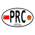 China Euro-style Code Oval Sticker