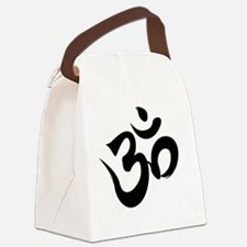 Om Black Canvas Lunch Bag