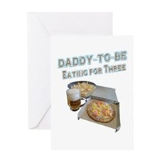 DADDY-TO-BE Eating for Three Greeting Cards