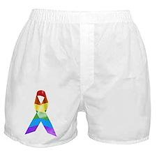 HIV Poz Pride Ribbon Boxer Shorts