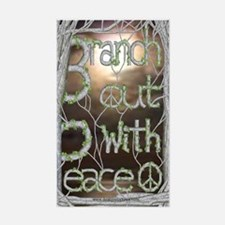 Branch out with Peace Rectangle Decal