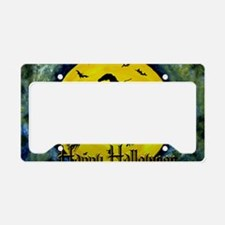 Halloween Scottie and Witch License Plate Holder