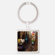 room with a view... TIMES SQUARE Square Keychain