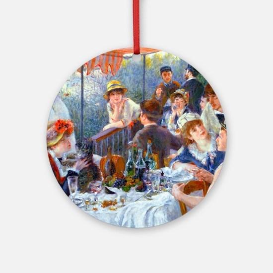 Shower Renoir Round Ornament