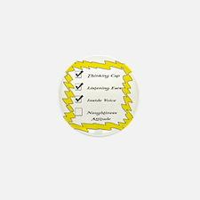 Check List Yellow Mini Button