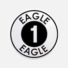 """Space: 1999 - Eagle 1 Logo 3.5"""" Button"""