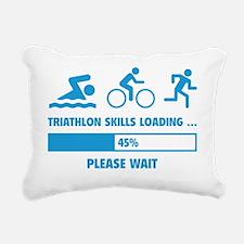 LoadingTriathlon1E Rectangular Canvas Pillow