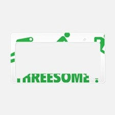 triaThreesome1D License Plate Holder