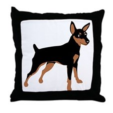 Cartoon Miniature Pinscher 1 Throw Pillow