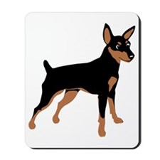 Cartoon Miniature Pinscher 1 Mousepad
