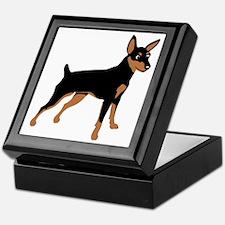Cartoon Miniature Pinscher 1 Keepsake Box