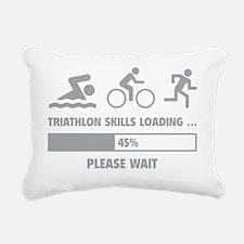 LoadingTriathlon1C Rectangular Canvas Pillow