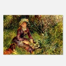 Mrs. Renoir with dog Postcards (Package of 8)