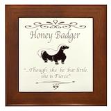 Honey badger Framed Tiles