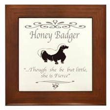 THOUGH SHE BE BUT LITTLE SHE IS FIERCE Framed Tile