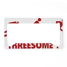 triaThreesome1E License Plate Holder