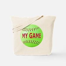 Softball, My Game Tote Bag
