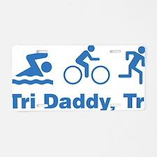 triaIDaddy1F Aluminum License Plate