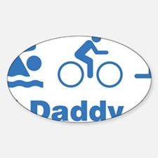 triaIDaddy1F Sticker (Oval)
