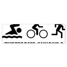 triaThreesome2A Bumper Sticker