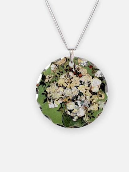 Van Gogh Roses Necklace