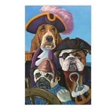 Dog Pirate Greeting Cards Postcards (Package of 8)