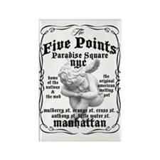 Five Points Tee Rectangle Magnet