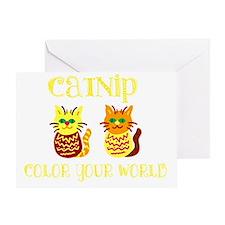 Colorful Catnip Kitties Greeting Card