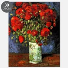 Van Gogh Red Poppies Puzzle
